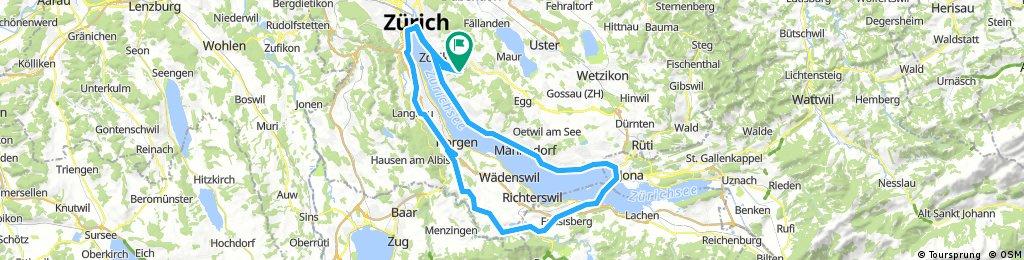 Zürich-Rapperswil-Hirzel-Zürich