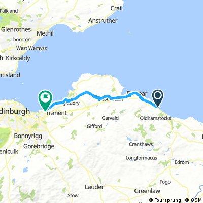Long ride from ダンバー to Prestonpans