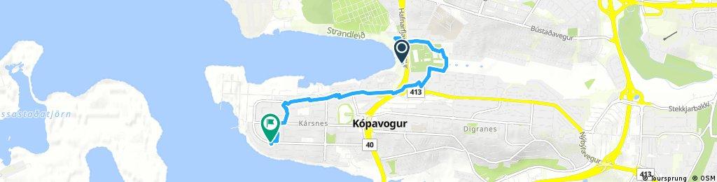 Short ride through Kópavogur