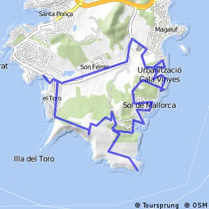 Cycling routes and bike maps in and around Magaluf Bikemap Your
