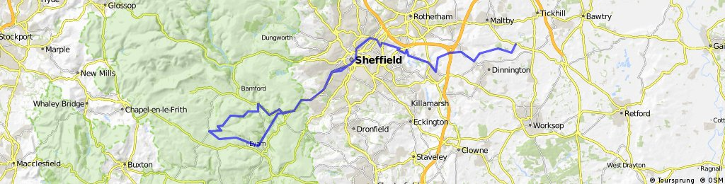 west and east of sheffield