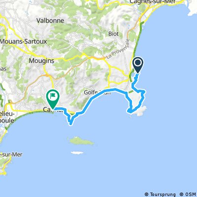 antibes to cannes