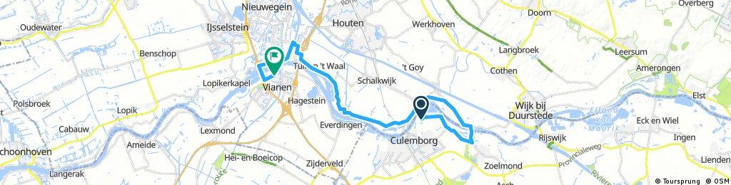 bike tour from Culemborg to Vianen