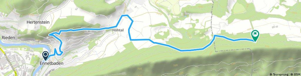 Brief ride through Ennetbaden