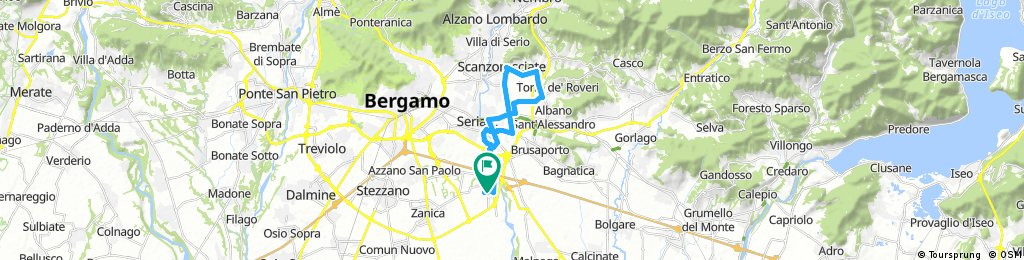 bike tour through Grassobbio