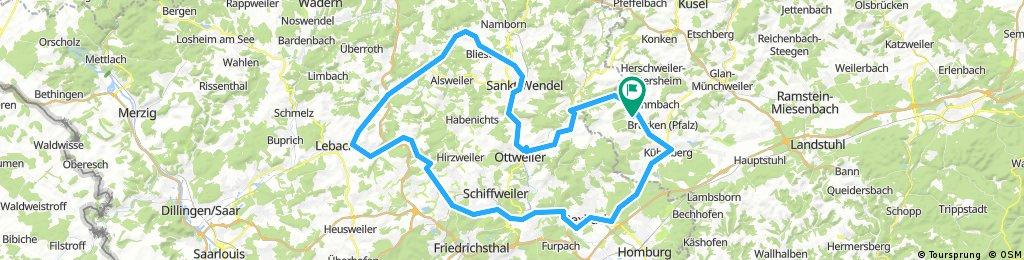 Bexbach Eppelborn Lebach Tholey St.Wendel Ottweiler Werschweiler