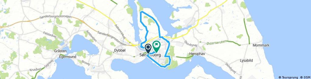 bike tour through Sønderborg Ulkebøl
