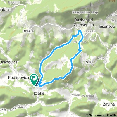 Short bike tour from Izlake to Zagorje ob Savi