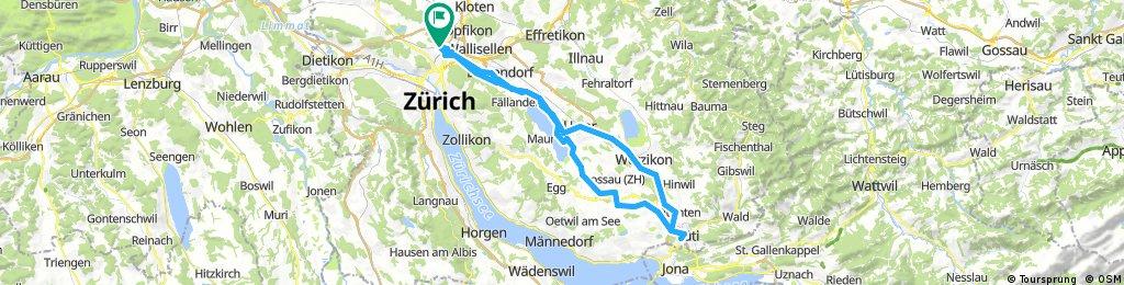 Zürich Rüti ZH retour