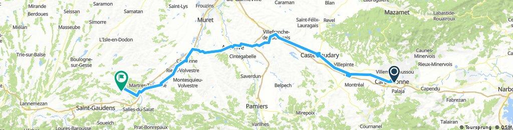 5a tappa Carcassonne-Cazeneuve Montaut