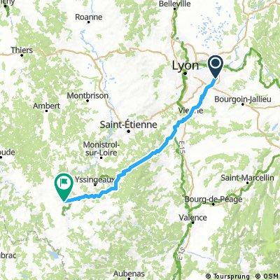 Lyon airport to Le Puy Via Gebensis