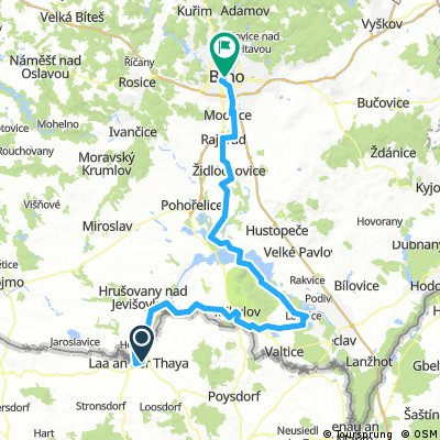 Laa/ Thaya - Lednice - Brno