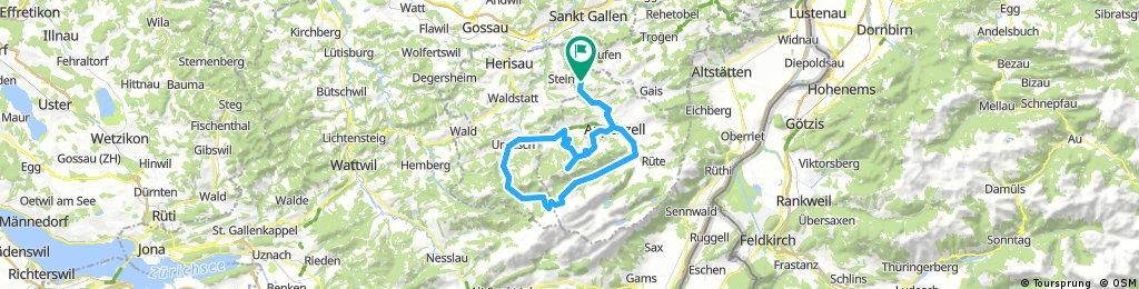 Haslen- Lehmen- Chammhalden- Gonten- Scheidegg