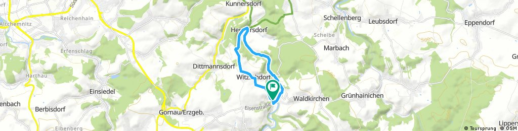 Kurze Radrunde durch Grünhainichen