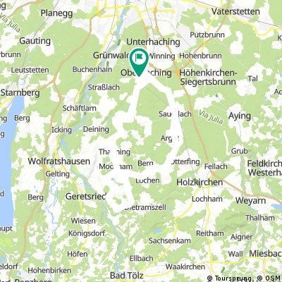 Deisenhofen - Punding - Deisenh. (ca 62km)