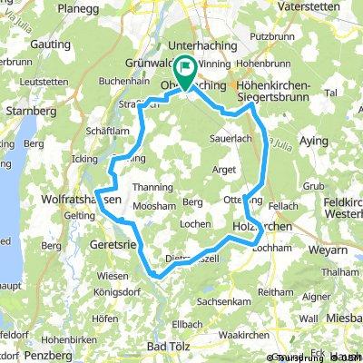 Deisenhofen - Untermühltal - Deisenh. (ca 78km)