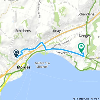 Short ride from Morges to Denges