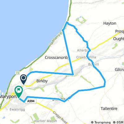 bike tour through Maryport