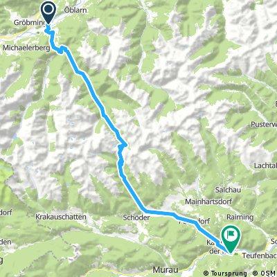 Sölkpass 57 km 1200 hm Gröbming Frojach