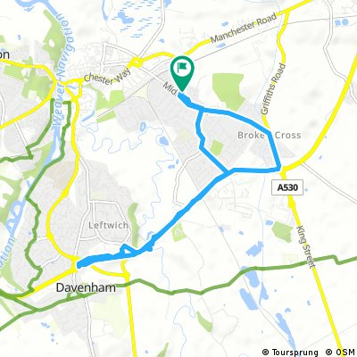 Brief bike tour through Northwich