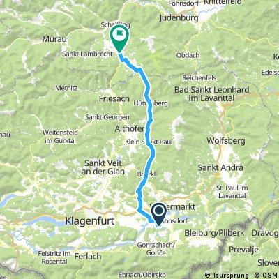 Klopeinersee nach Neumarkt Stmk nach Teufenbach