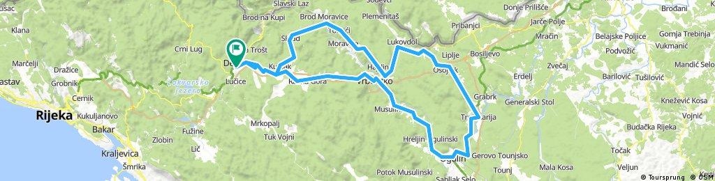 Delnice-Vrbovsko-Ogulin-Lukovdol-Skrad-Delnice