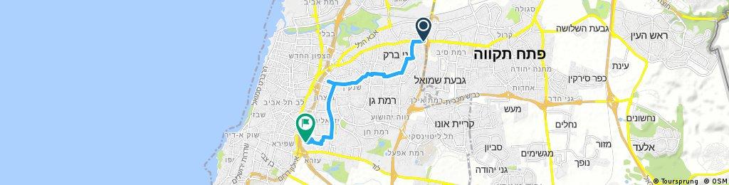 ride from Bnei Brak to Tel Aviv-Yafo