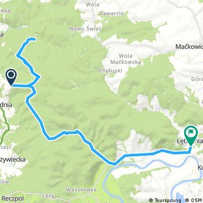 bike tour through Łętownia