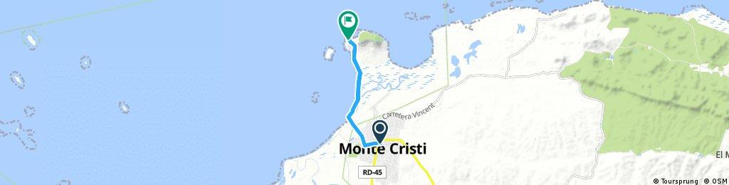 ride from Monte Cristi to San Fernando De Monte Cristi
