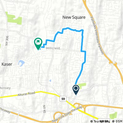 Short bike tour from Clarkstown to Spring Valley