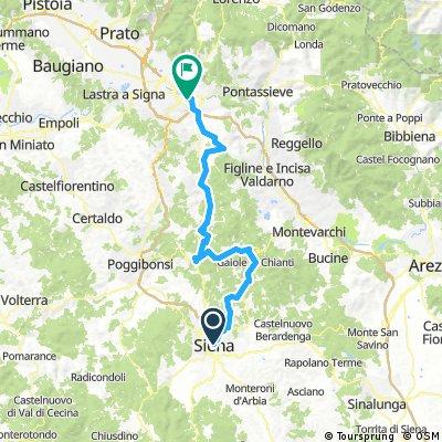siena - firenze road in chianti bikepacking