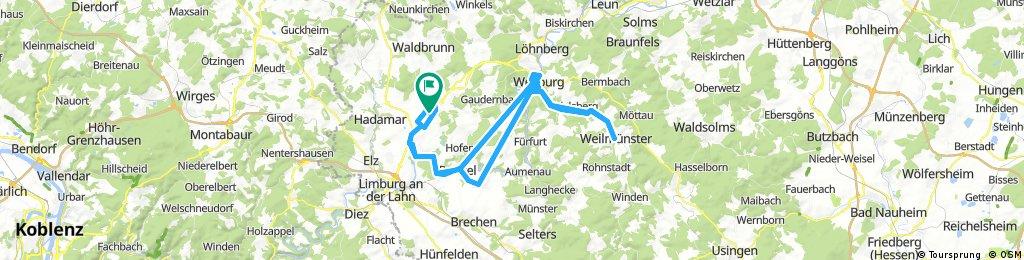 Obertiefenbach nach Weilmünster und zurück