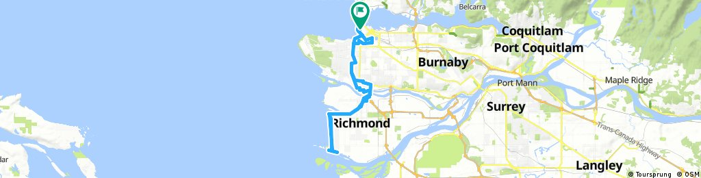Lengthy ride through Vancouver