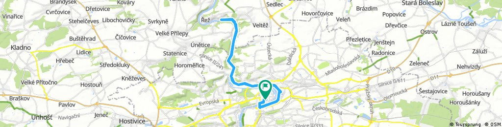 Lengthy ride through Prague