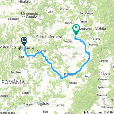 Székelyudvarhely-Segesvár-Szászkézd-Szászkeresztúr-Szászbuad-Viscri-Kőhalom-Székelyzsombor-Oklánd-Szentpál-Kénos-Székelyudvarhely