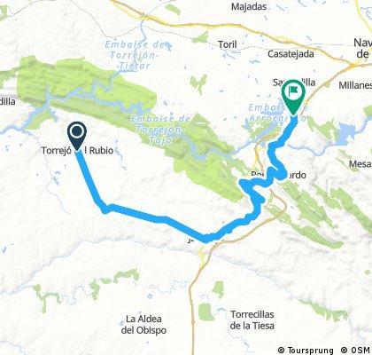 Torrejon el Rubio_Almaraz 60km
