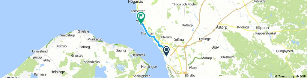 Helsingborg To Viken To Camp Bikemap Your Bike Routes
