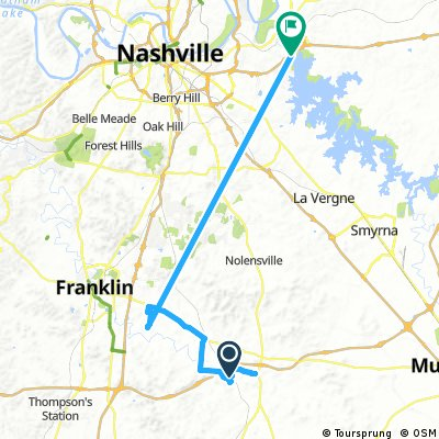 ride from College Grove to Nashville