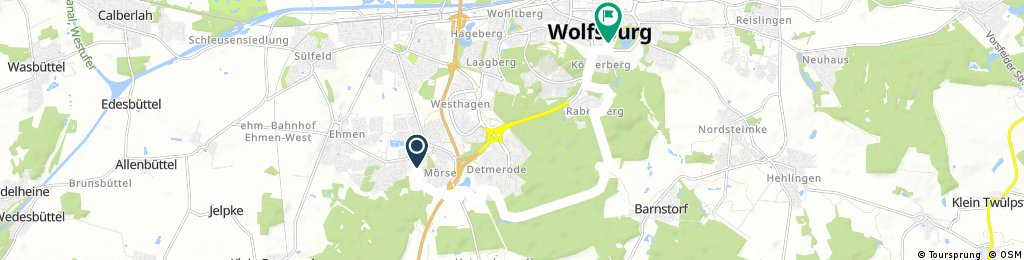 Radrunde durch Wolfsburg