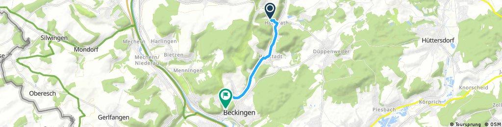 Schnelle Radrunde durch Beckingen