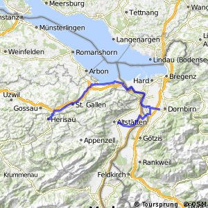 Cycling routes and bike maps in and around Herisau Bikemap Your