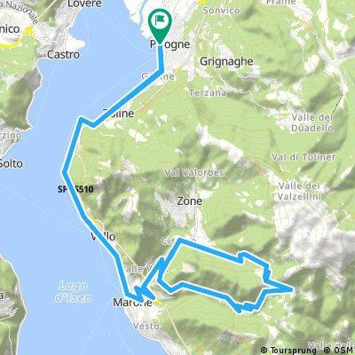 Lago d' Iseo 2017 - 5: Pisogne - Croce di Marone - Pisogne