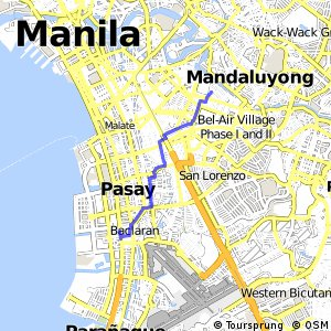 Cycling Routes And Bike Maps In And Around Mandaluyong City - Mandaluyong map