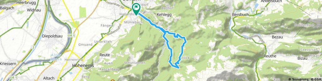 Dannerbruck - Gütle - Beckenmann - Rudach - Kobel - Rappenloch -  Gütle - Dannerbruck