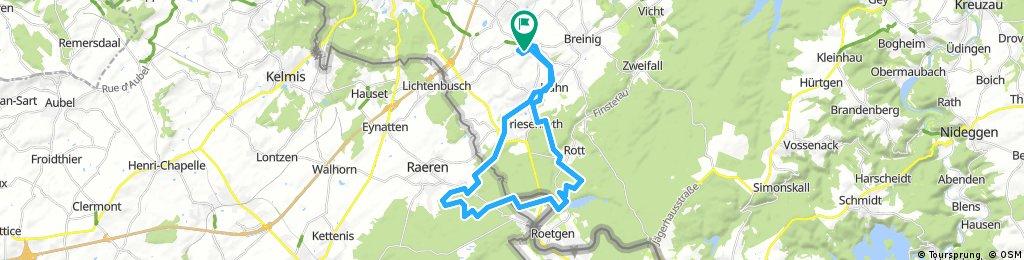 Lange Ausfahrt durch Aachen