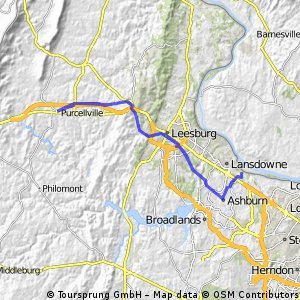 Ashburn to Purcellville (and back) via W&OD