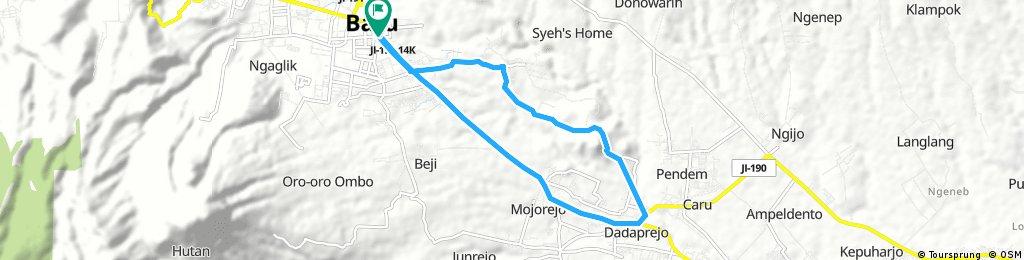 bike tour through Batu