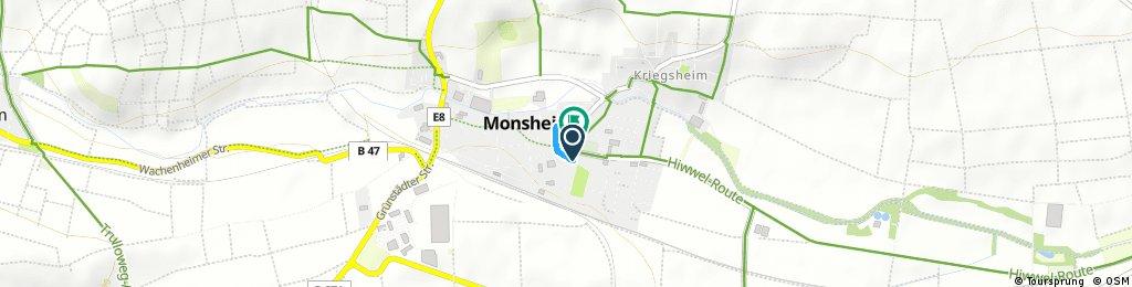 Schnelle Radrunde durch Monsheim