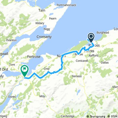 Findhorn Scotland Map.Cycling Routes And Bike Maps In And Around Findhorn Bikemap Your