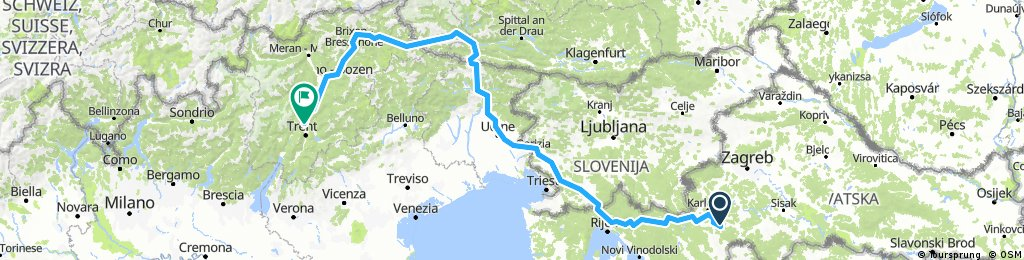 Croatia, Slovenia, Austria, italy